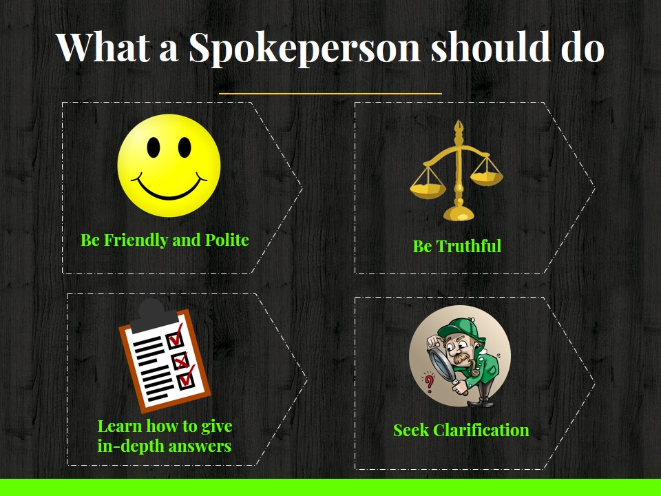 What a spokeperson should do
